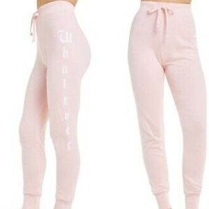 Wildfox   Light Pink Whatever Pull-on Jogger